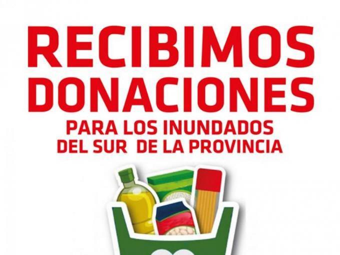 Recibimos donaciones para los inundados del sur de la provincia