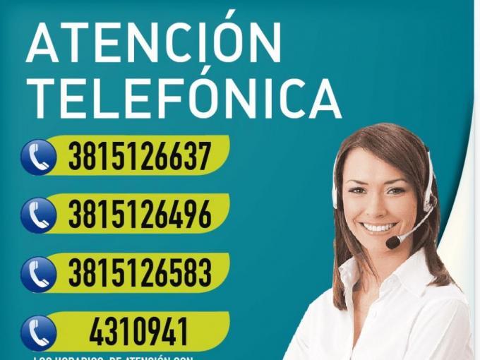 Teléfonos disponibles para Atención