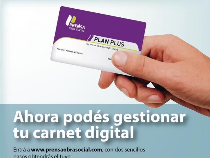 Los afiliados a Prensa ya pueden generar su carnet digital