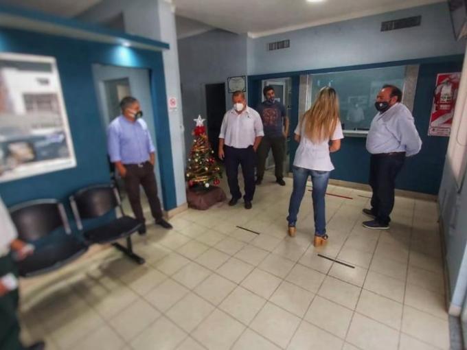 Gijena supervisó las obras de mejoras en el edificio de Concepción