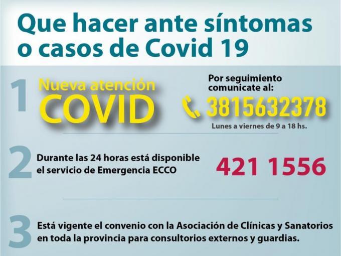 ¿Qué hacer en caso de síntomas de COVID-19?
